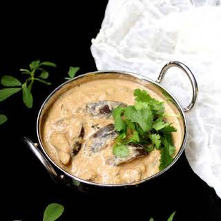 Eggplant in Peanut Curry Sauce.