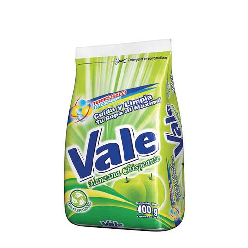 detergente en polvo vale manzana 400gr
