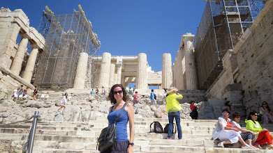 Photo: Shana! She flew out to spend just 2 days with us in Athens.