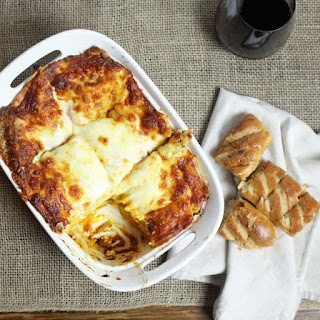 Butternut Squash, Caramelized Onion and Mushroom Lasagna
