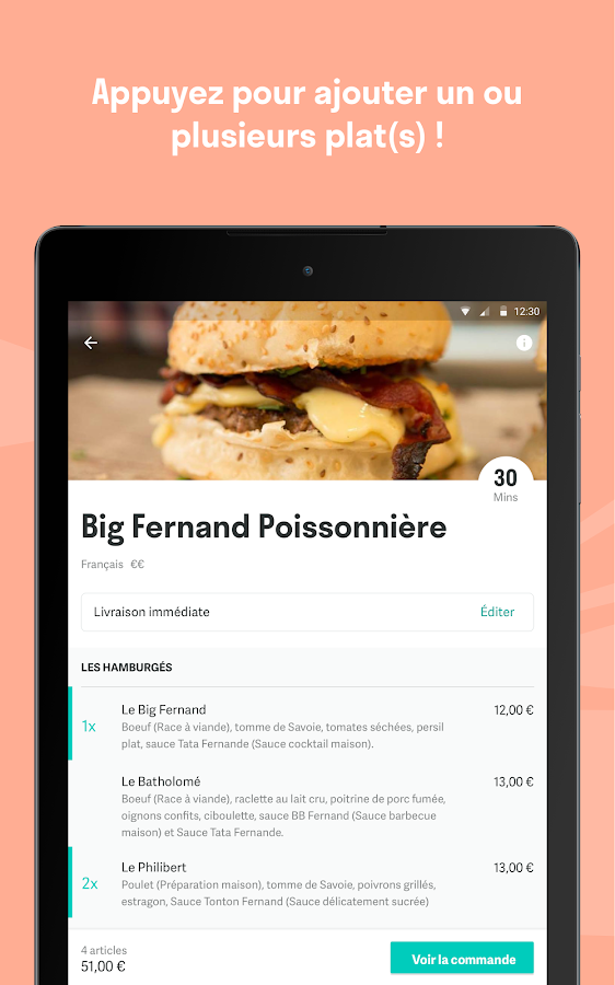 Deliveroo - Restaurants Livrés – Capture d'écran