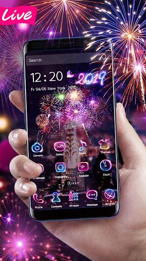 Lucky 3D New Year Firework Theme 1.1.4 screenshots 4