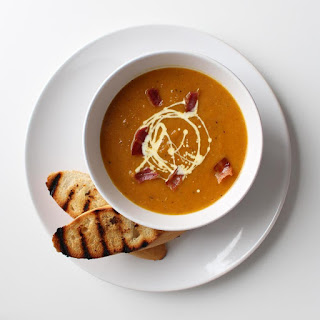 Grilled Pumpkin & Carrot Soup