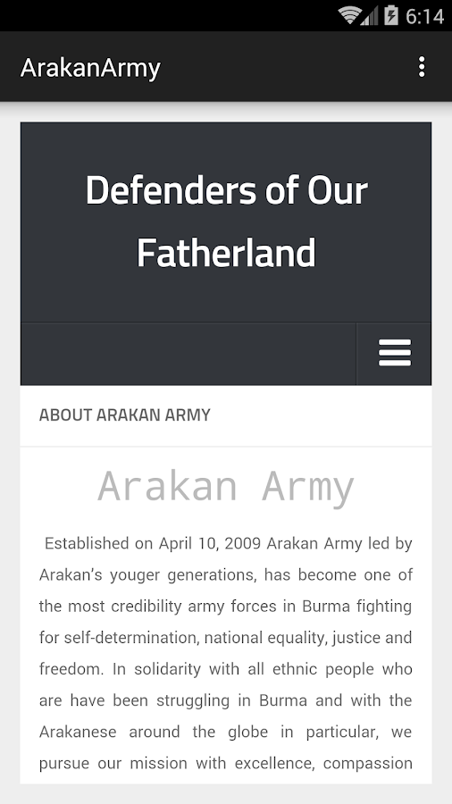 Arakan Army- screenshot