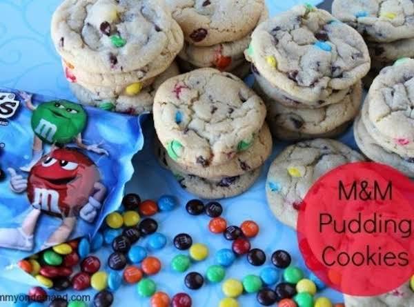 Mini M&m Pudding Cookies Recipe