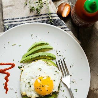 Avocado and Egg with Fresh Thyme.