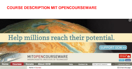 course description mit opencourseware.pdf - Google Drive