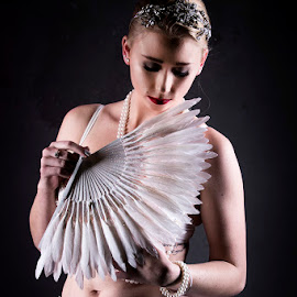 Burlesque by Mel Stratton - People Portraits of Women ( woman, burlesque, shy, girl, female,  )