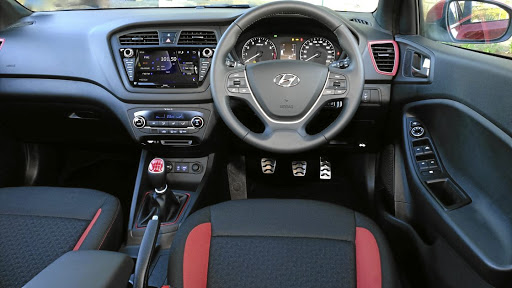 The interior gets a good level of space and equipment but the red accents will not suit everyone. Picture: QUICKPIC