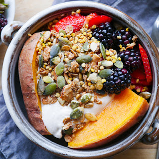 Sweet Potato & Berries Breakfast Bowl