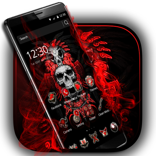 Red Blood Skull Launcher Apps (apk) free download for Android/PC/Windows