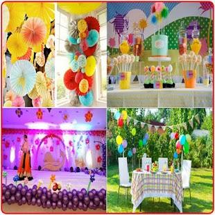 Narozeninové party dekorace - náhled