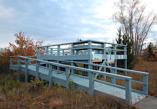 Photo: The Observation Deck at Rainbow Shores on the eastern edge of Lake Ontario in Pulaski, NY.