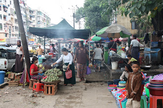 Photo: Year 2 Day 54 - Stalls on the Street in Yangon