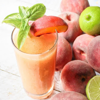 Frozen Peach Basil Daquiri
