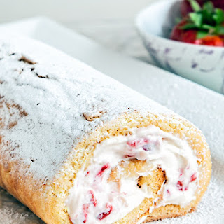 Easy And Delicious Strawberry And Rosewater Cream Swiss Roll