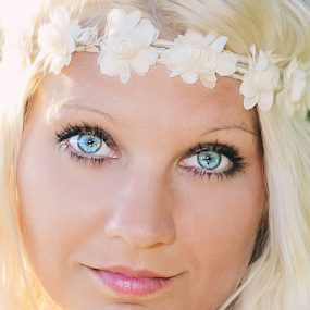 Ice Blue by Julie Anderson - People Portraits of Women (  )