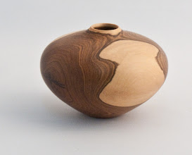 "Photo: Robert Brulotte - Hollow Vessel - 2.5"" x 4"" - Oysterwood"