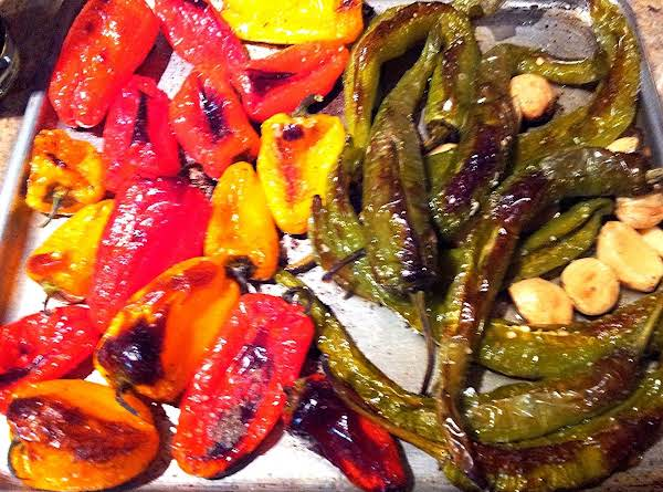 Roasted Sweet & Hot Peppers With Garlic Recipe