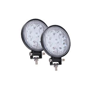 Set 2 proiectoare LED BAR, OFF ROAD, rotund, 9 LED, 27 W, 11 cm