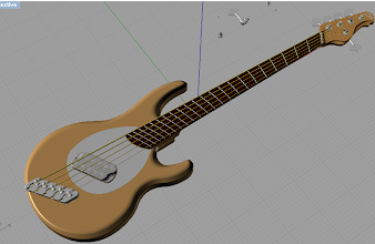 """Photo: On a the entire body! As you can see, the more I go into detail, the more the bass """"pops"""". Especially the pickup and the headstock. The bridge will look better in the end because it's made of different materials, it looks plain now."""
