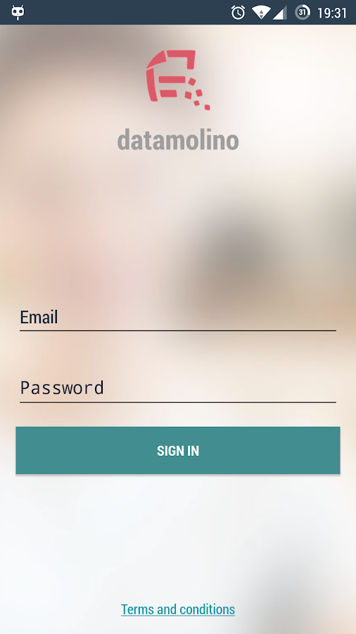 Datamolino- screenshot