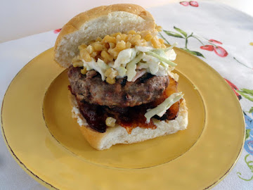 Sirloin And Pork Burger With Blue Cheese Slaw Recipe