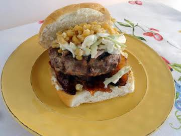 Sirloin and Pork Burger with Blue Cheese Slaw