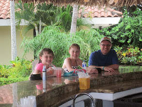 Photo: Hanging out at the pool bar at the Westin Playa Conchal