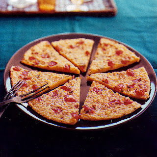 Chickpea Flour Pizza with Tomato and Parmesan Recipe