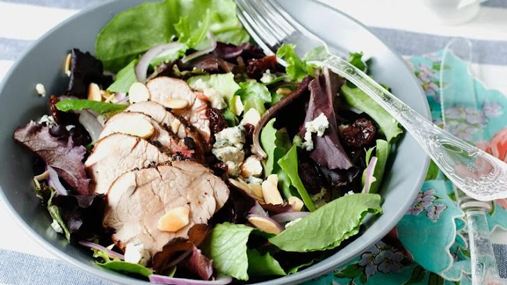 Grilled Pork Tenderloin and Dried Cherry Salad Recipe