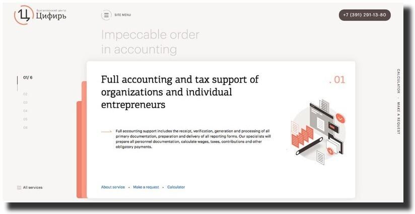 "Accounting Center ""Tsifir"" web design Accounting Website Design"