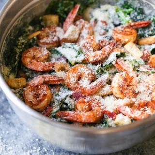 Cajun Shrimp Kale Caesar Salad