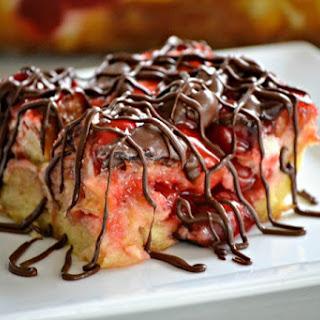 Chocolate Cherry Cheesecake Bread Pudding