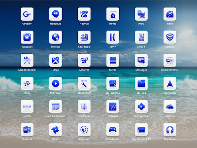 Azer Blue Icon Pack screenshot 8