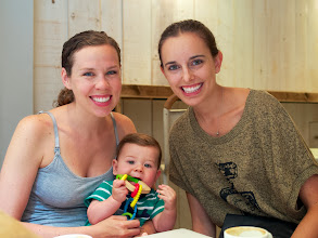 Photo: Our dear friend Stef also came down from Zuirch to meet Everett for the very first time. We love you Stef!