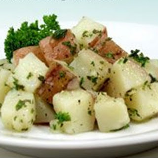 Steamed Herbed Potatoes.
