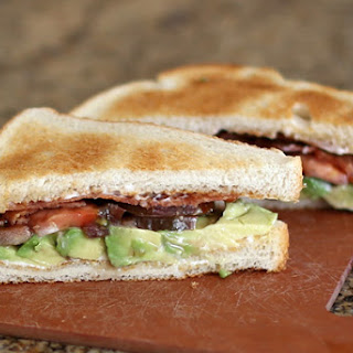 Bacon, Tomato, and Avocado Sandwiches.
