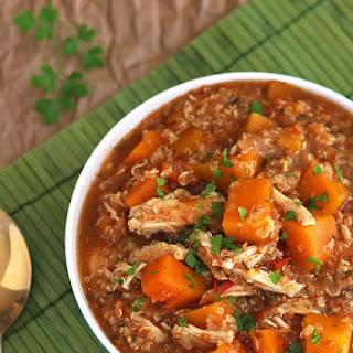 Slow Cooker Butternut Squash Chicken Quinoa Stew