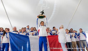 Photo: Pour la 3ème fois (2003, 2012 et 2016), la France sacrée Meilleure Nation Parachutiste au Monde à Chicago, WPC 2016
