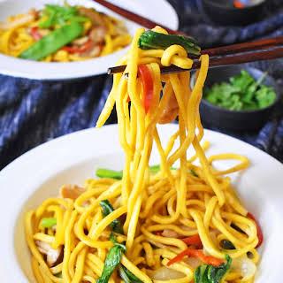Easy Chicken and Hokkien Noodle Stir Fry.