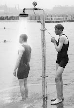 Photo: 01 Jan 1914, Southport, England, UK --- Southport, the Shower --- Image by © The Francis Frith Collection/Corbis