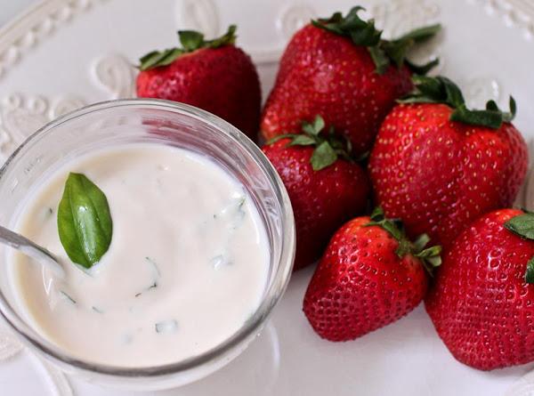 Strawberry Basil Dip Recipe