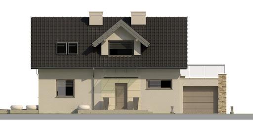 Dom przy Alabastrowej 3 - Elewacja przednia