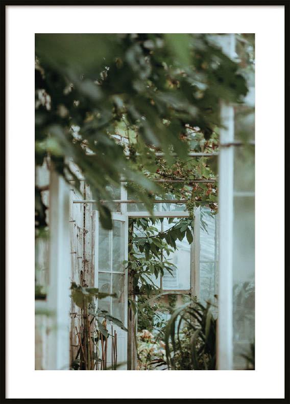 Poster, Glass door