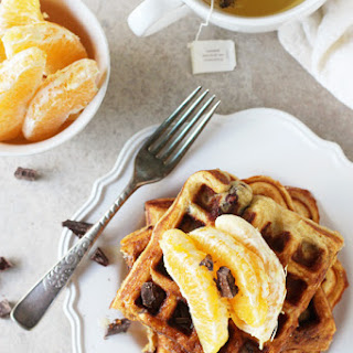 Orange and Dark Chocolate Waffles