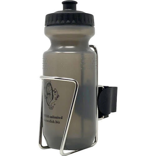 TwoFish QuickCage Water Bottle Cage: Stainless, 21oz Bottle Included