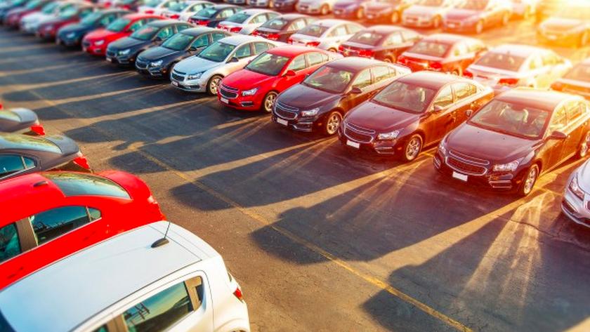 Multitud de coches expuestos en subasta.