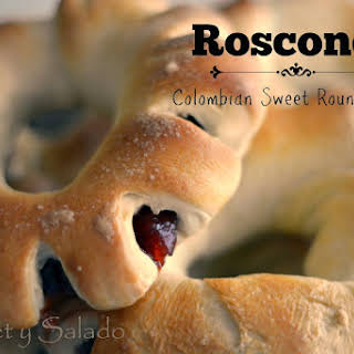 Roscones (Colombian Sweet Round Bread).