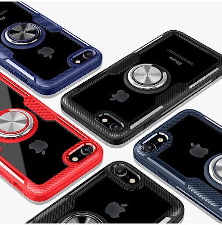 Stilsäkert Skal med Ringhållare - iPhone SE 2020